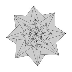 Star Flower Origami Diagram 6 Way Trailer Plug Wiring Dodge For Lonely Etsy Mathilda