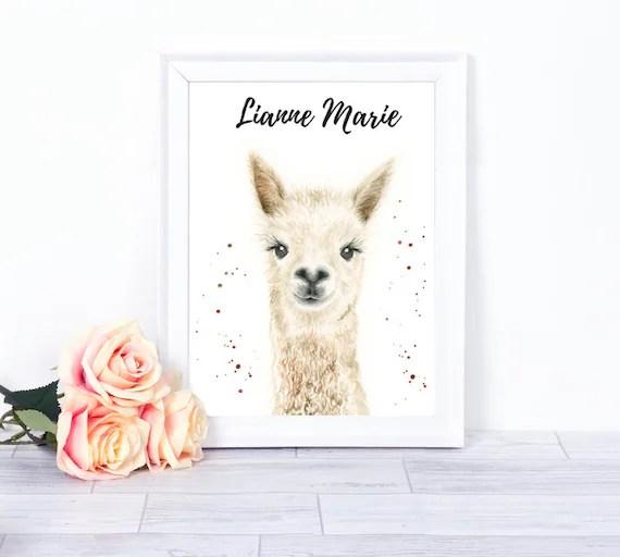 Personalised Llama Print