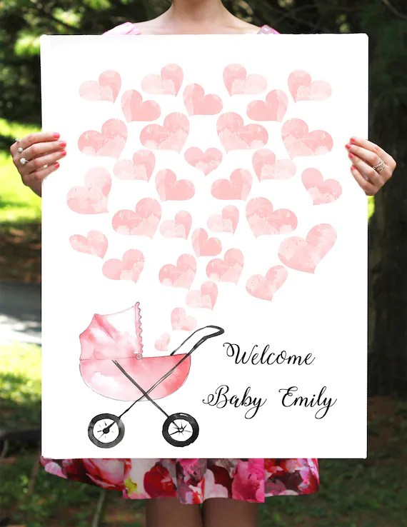 Baby Shower Guest Book Sign Printable : shower, guest, printable, Printable, Shower, Guest, Heart