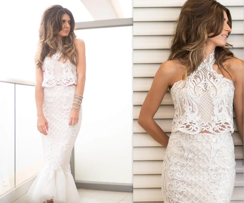 Mermaid Wedding Dress Lace 2 Piece Wedding Dress Lace