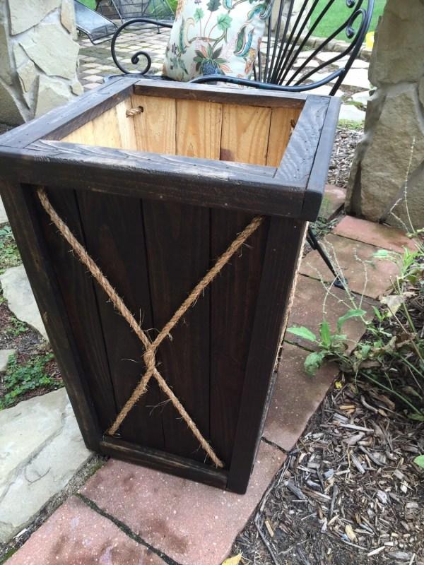 Tall Wood Planter Entryway Wedding Box