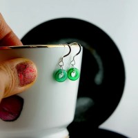 Sterling Silver Emerald Green Earrings