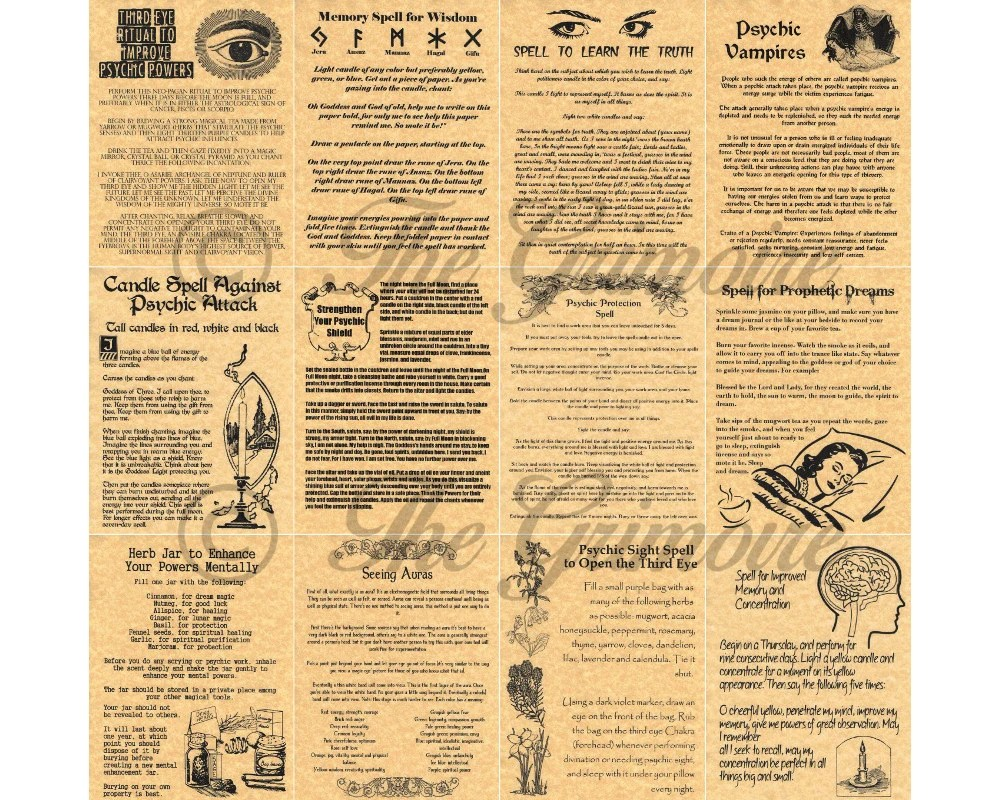 psychic spells book of