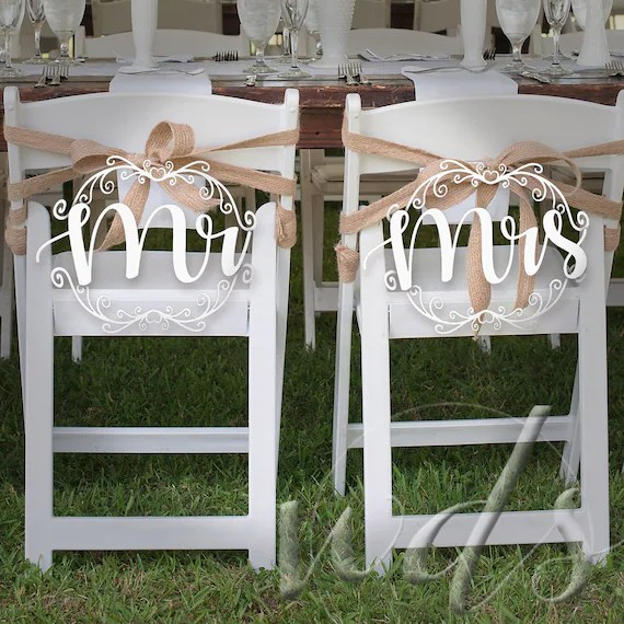 cheap hand chair stool ghana mr mrs signs 12in scroll drawn 3d wedding etsy image 0