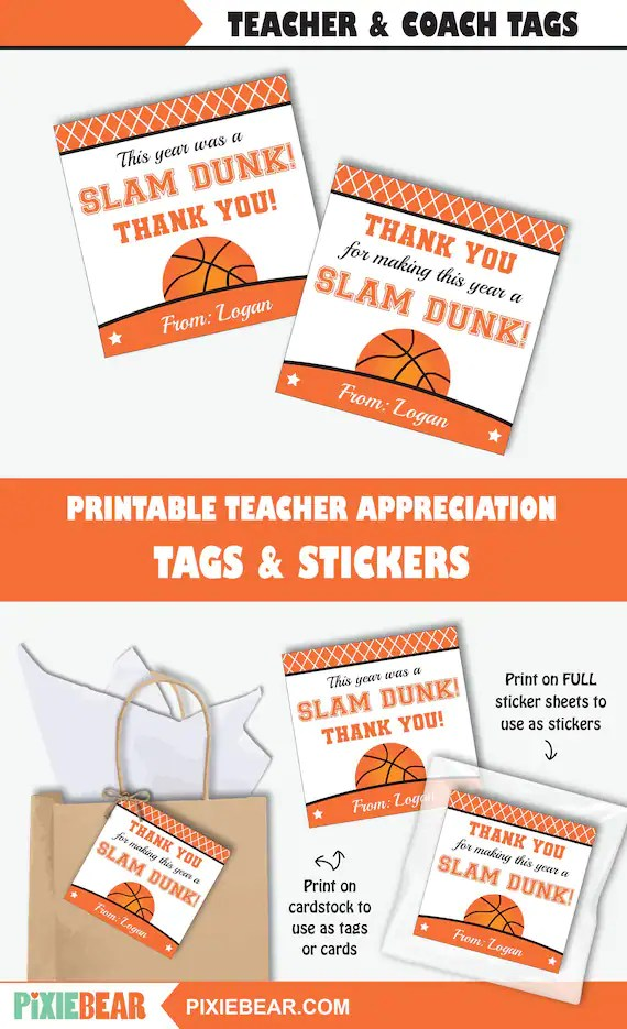 Coach Thank You Cards : coach, thank, cards, Basketball, Coach, Thank, Printable, Teacher, Appreciation, Week,, Personalized, (Instant, Download), PixieBear, Catch, Party