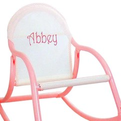 Rocking Chair Kids Plastic Rail Manufacturers Etsy Pastel Personalized Childrens Folds And Is 100 Watersafe For To Use Wherever They Want