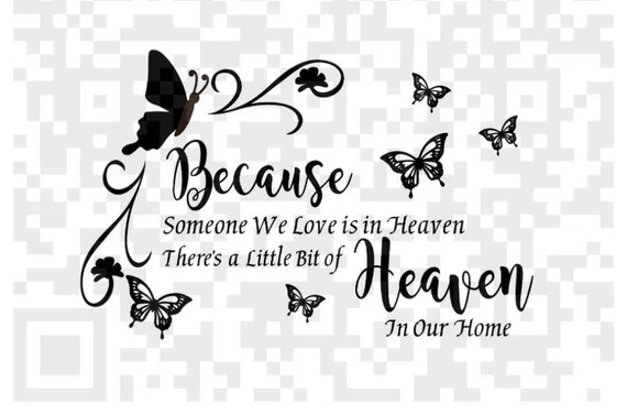 Download Because some one we love is in Heaven SVG Sympathy Png   Etsy