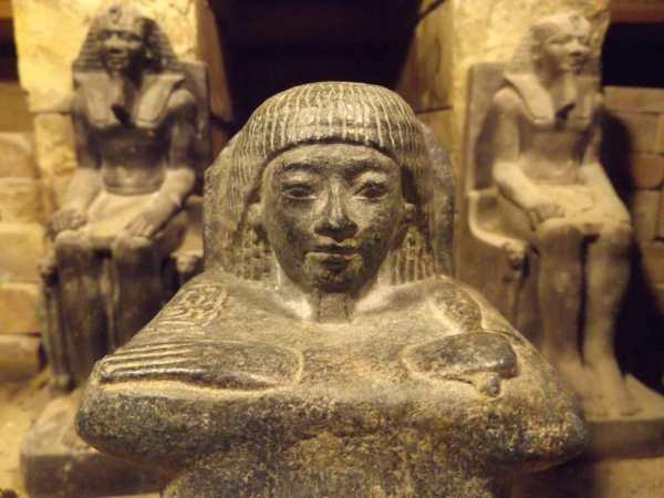 Egyptian Block Statue Museum Replica Sculpture. Reign Of