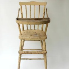 Antique High Chairs Roman Chair Workout Equipment Etsy 1920 S Yellow Painted Almond Color Children Photography Prop Distressed