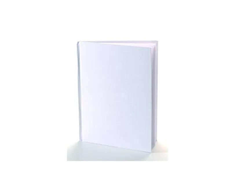 white hardcover blank book