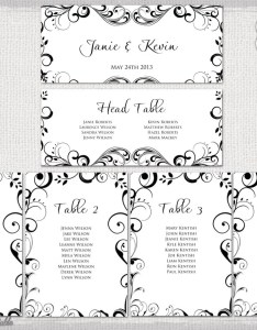 Image also wedding seating chart template black and white etsy rh