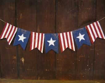 American Flag Banner Labor Day Patriotic Banner Patriotic