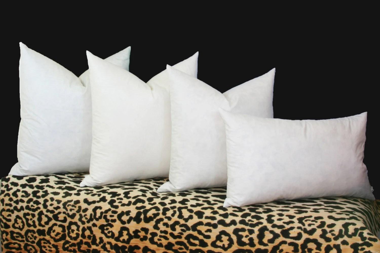 feather down pillow inserts 90 10 16x16 18x18 20x20 22x22 24x24 26x26 28x28 euro down insert lumbar pillow insert