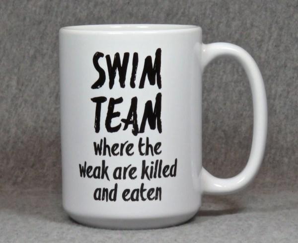 Swimming Mug Large Ceramic Swimmer Swim Coach