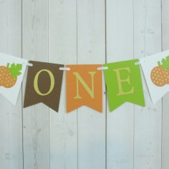 Age For High Chair Lane Leather Pumpkin One Birthday Party Baby Shower Flag Etsy 50