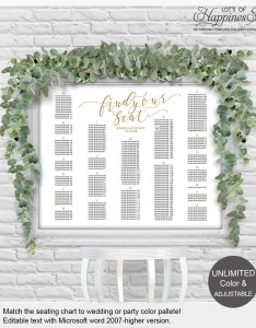 Image also wedding seating chart printable template etsy rh