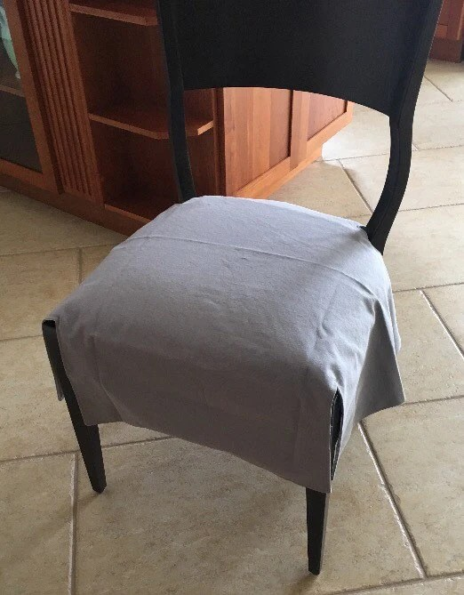 dining chair seat covers etsy chairs on wheels cover custom w corner slits lined choose your image 0