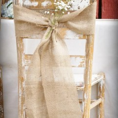 Wedding Chair Sash Wingback Covers Uk Beach End Decor Etsy Burlap Swag Bow Set Of 15
