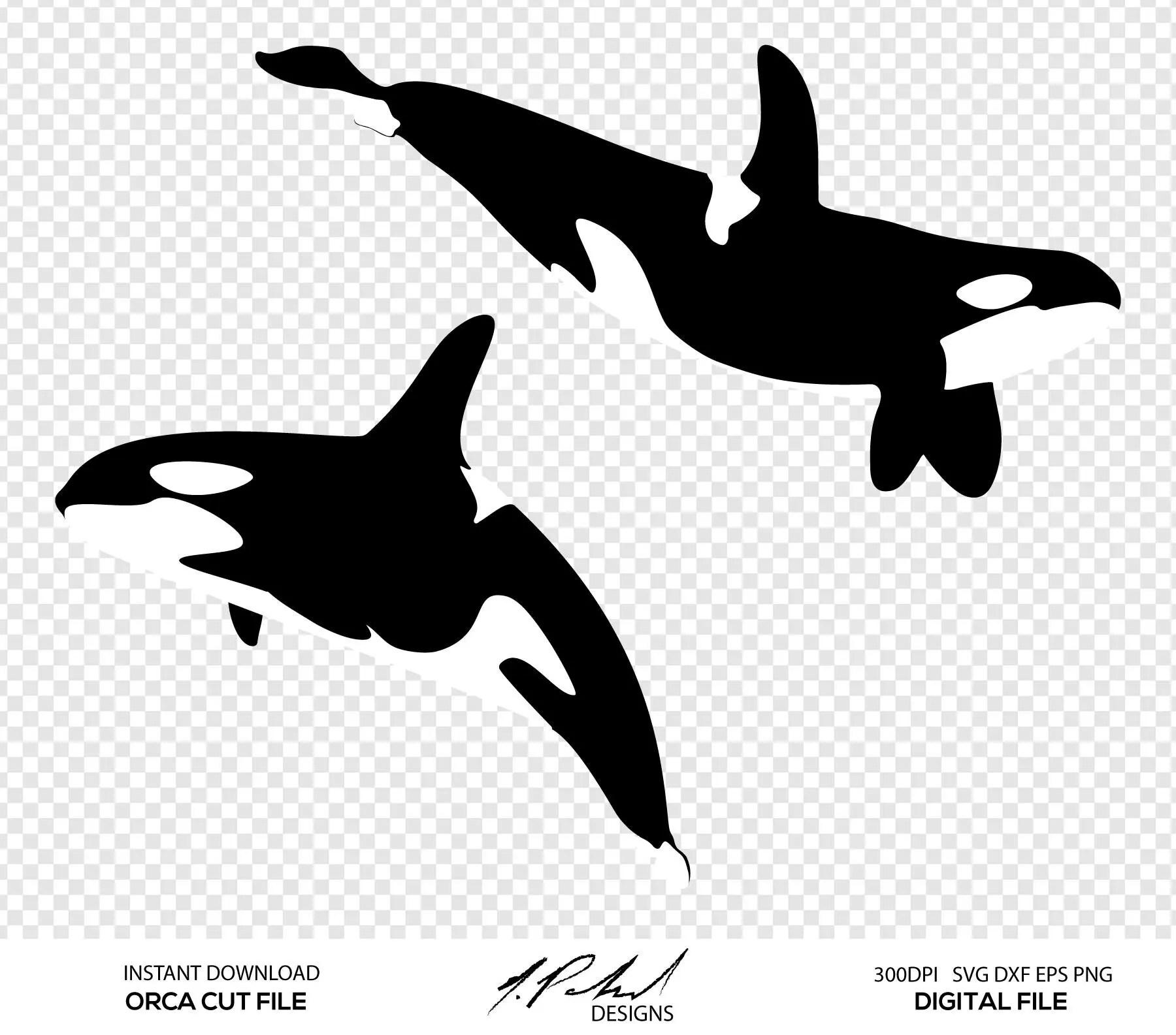 Orca Whale Digital Cut Files Digital Files Orca Svg Orca