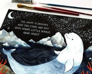 Baby Beluga Whale Art Print Nursery Decor Etsy