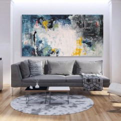 Large Canvas Art For Living Room Round Chairs Wall Etsy Custom Sizes Original Modern Abstract Painting Free Shipping On Texture Palette Knife