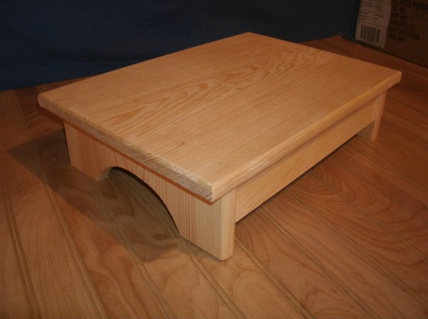 Adult Step Stool Wide 4 Wooden Unfinished
