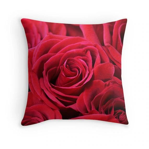 rose throw pillow online