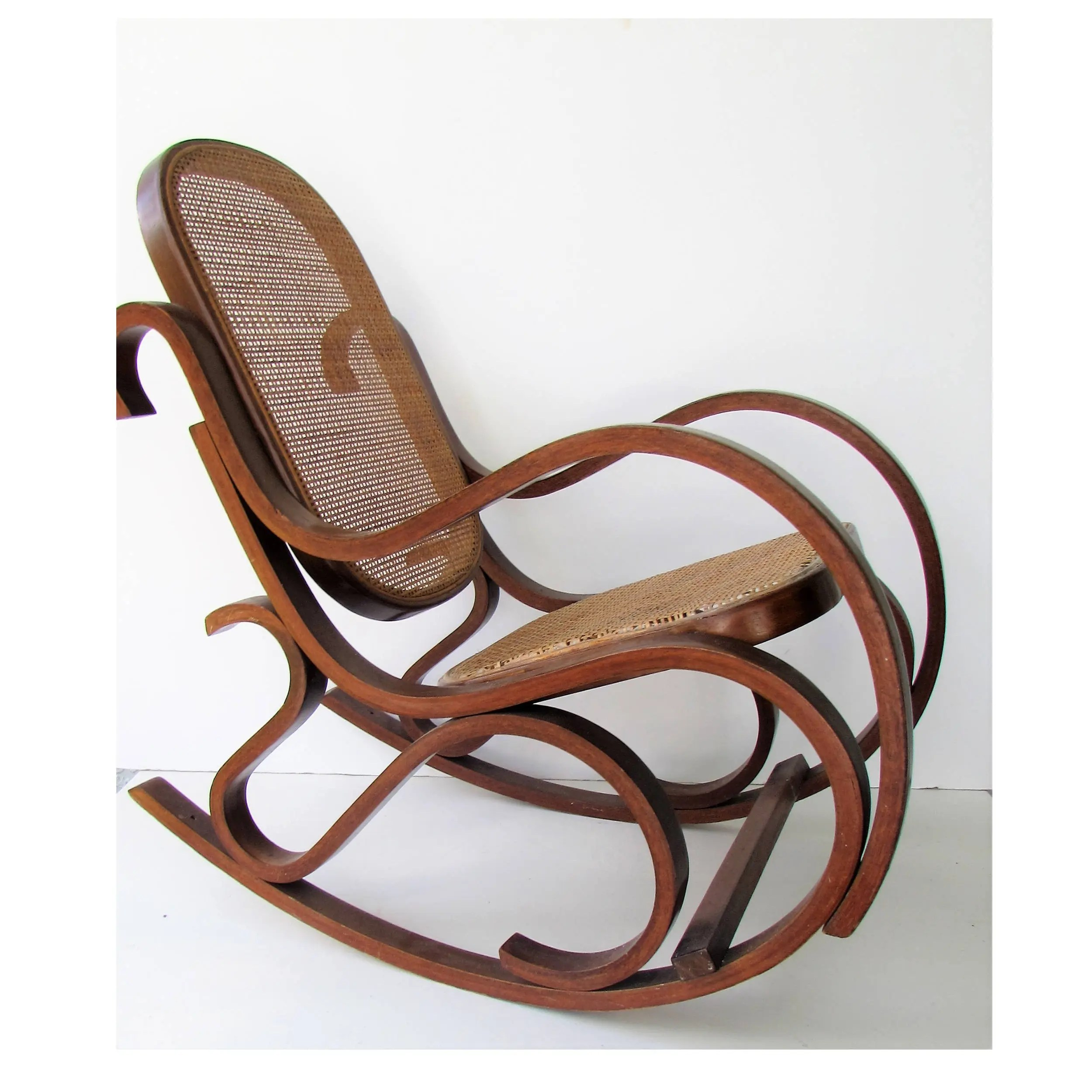 rocking chair cane koken barber age mid century modern bentwood child s etsy 50