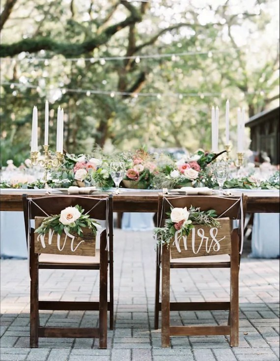 mr and mrs chair signs patio glider wedding rustic etsy image 0