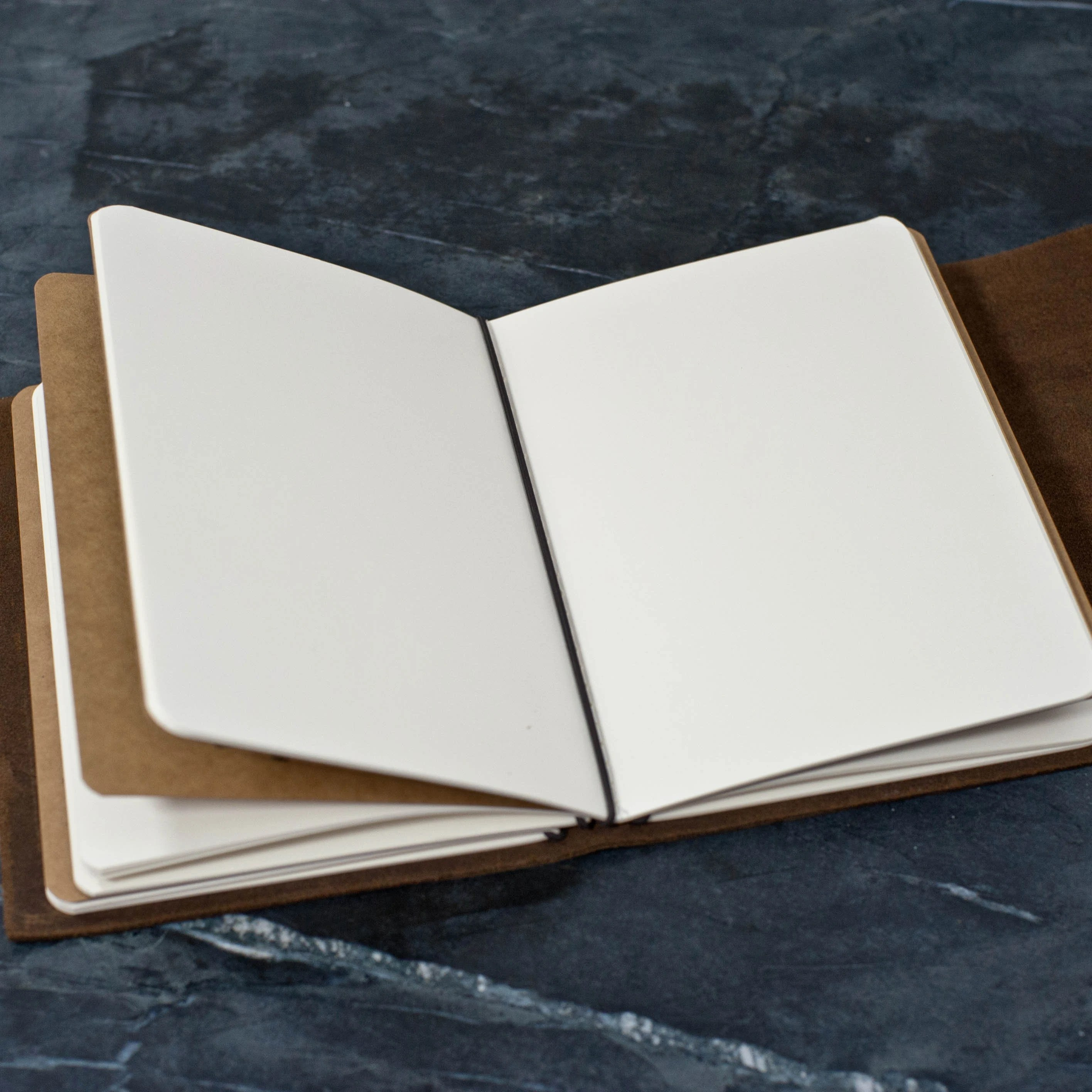 REFILLABLE Personalized Premium Leather Journal Notebook or image 1