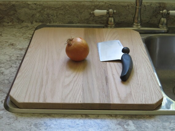 oak kitchen sink cover cutting board counter extender to give you more workspace in your kitchen chamfered corners