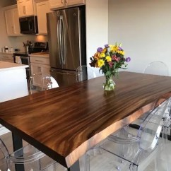 Live Edge Kitchen Table Pottery Barn Rugs Dining Etsy Made From Guanacaste In A Modern Rustic Finish With Black Steel Legs