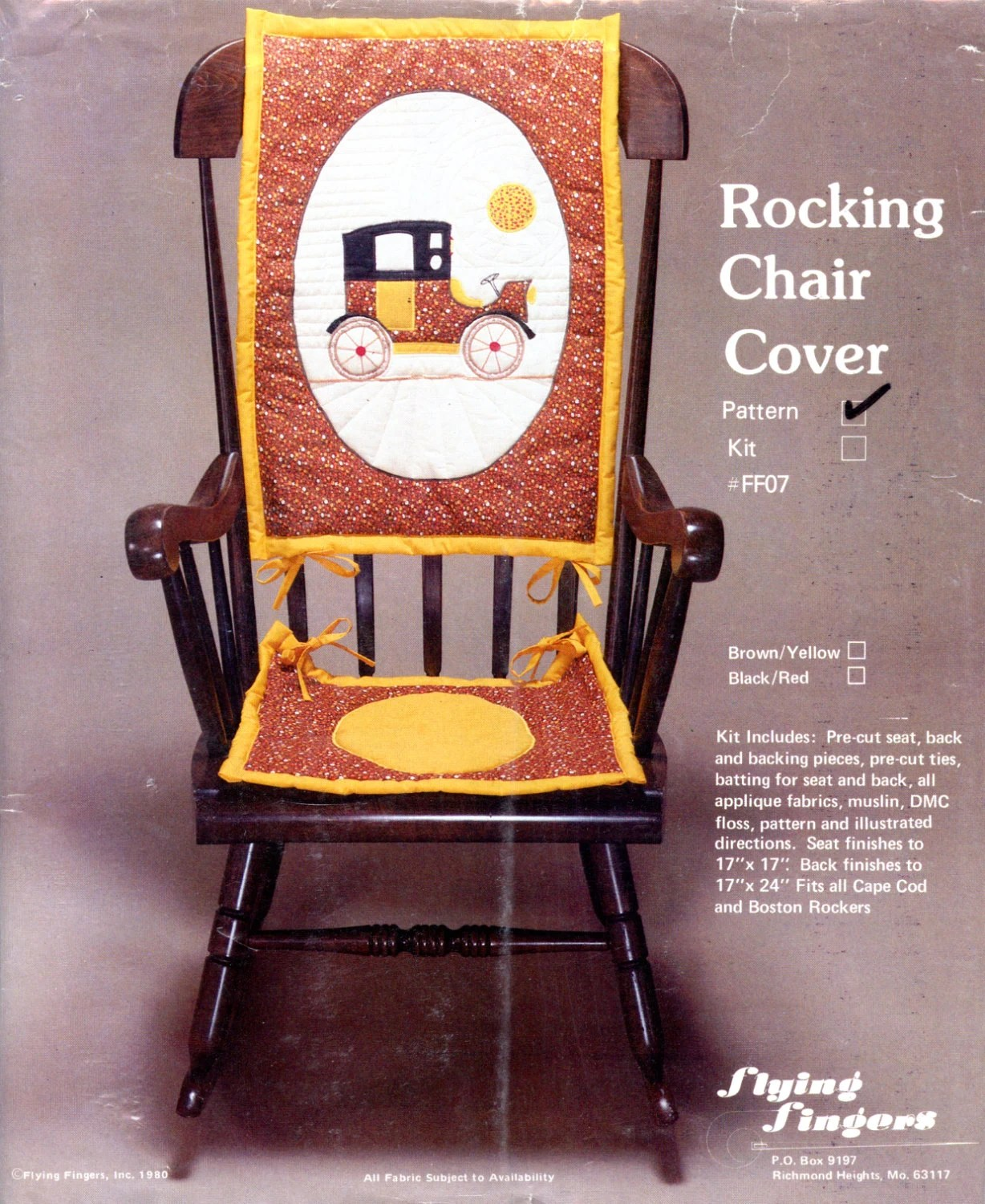 chair cover quilting desk cushions rocking applique pattern by flying etsy image 0