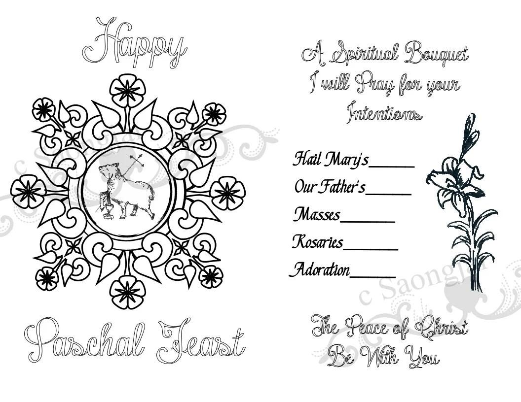Spiritual Bouquet Cards Printable PDF