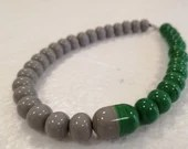 Green and gray pearls nec...