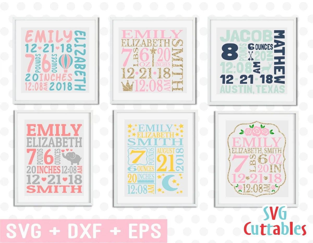 baby birth announcement bundle