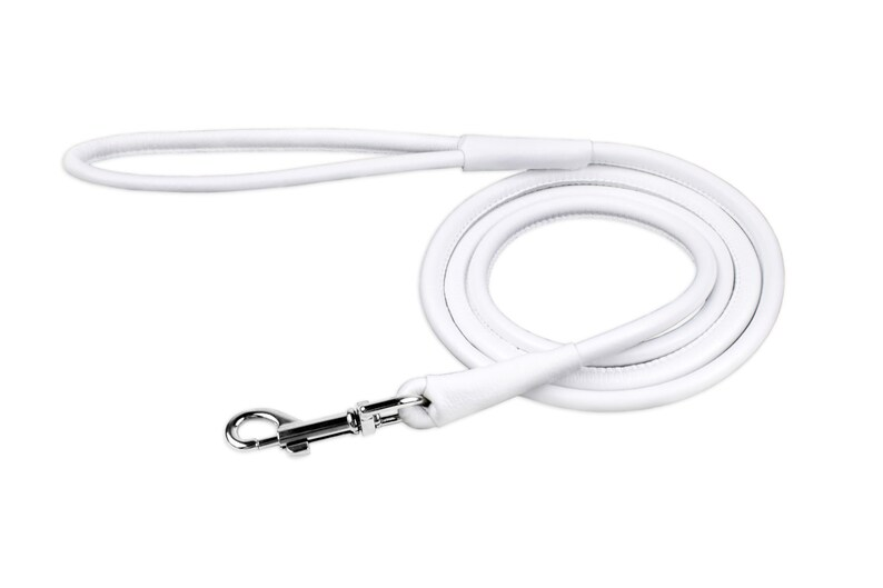 Rolled Leather Dog Leash Long Roll Dog Leashes for Large