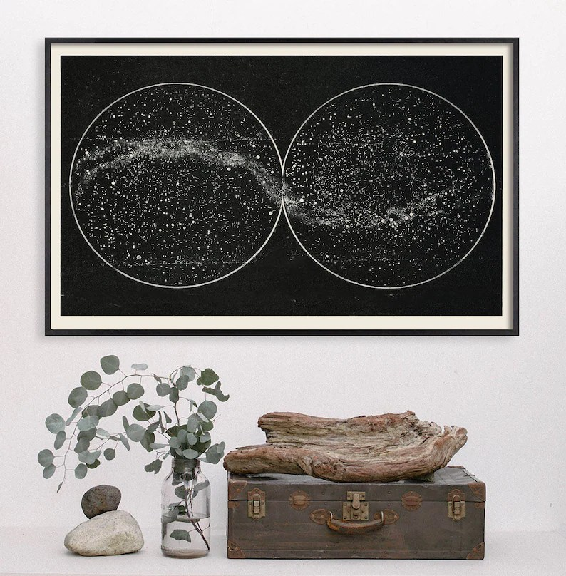 celestial star chart constellation