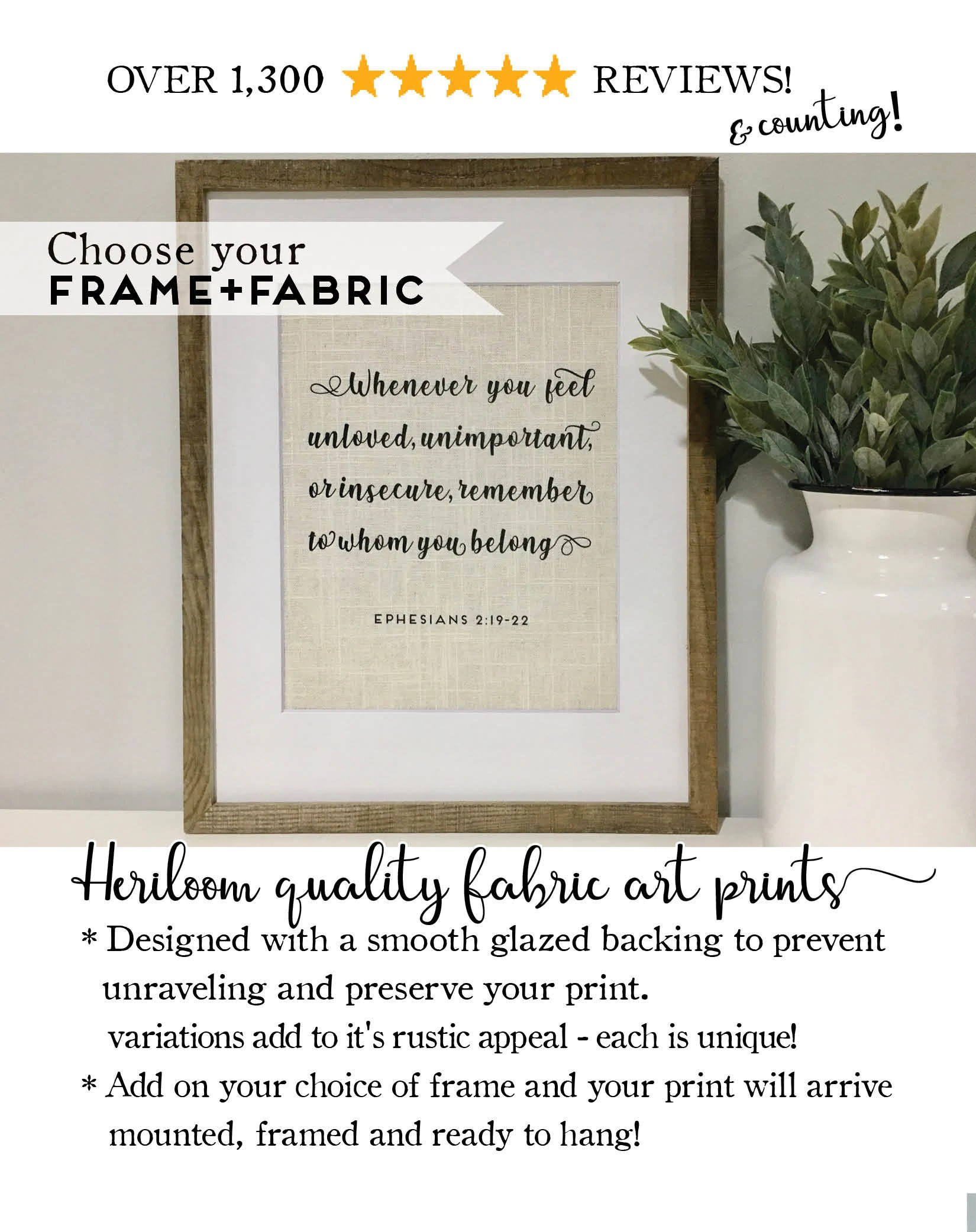 bible verse quote framed