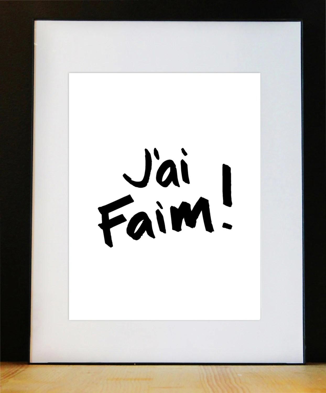 J Ai Faim En Japonais : japonais, Affiche, Cuisine, Citation, Foodies