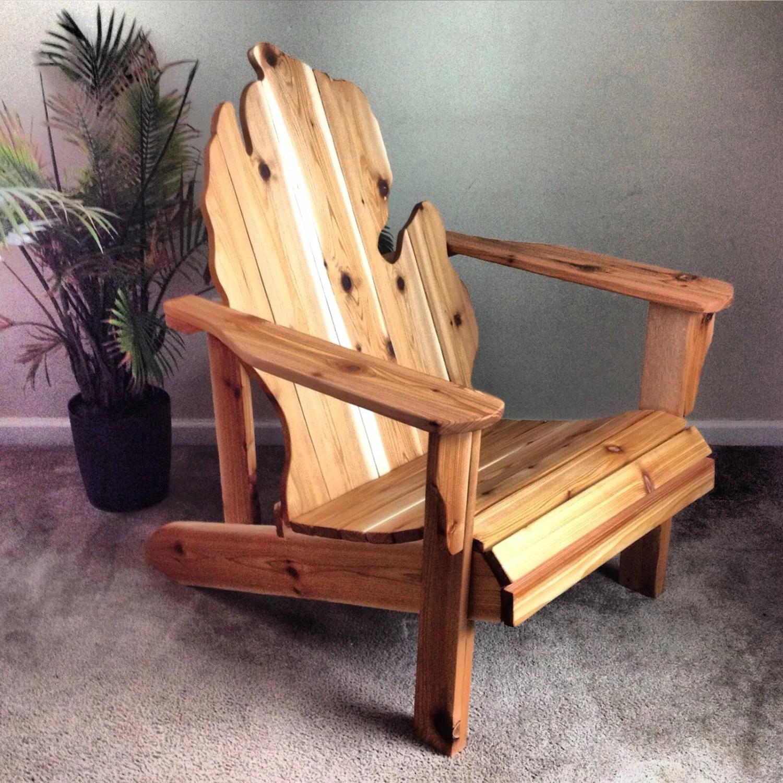 michigan adirondack chair sure fit wing slipcover handmade wood furniture rustic patio etsy image 0