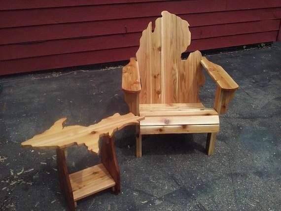 michigan adirondack chair alite mayfly and upper peninsula table etsy image 0