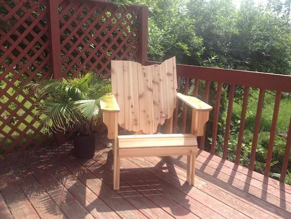 adirondack chair kit chicco travel high instructions ohio handmade wood furniture rustic cedar etsy image 0