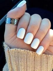 white nails fake acrylic