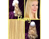 """18"""" HALO FLIP in HEXY Light golden blonde #22 human remy secret invisible miracle wire hair extensions custom made damage free circle crown"""