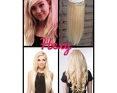 """HALO Hair Extensions 12"""" #60 Lightest (Bleach not Platinum) Blonde Flip In Secret Miracle Wire Human Hair Extensions/One Piece Clip In Weave"""