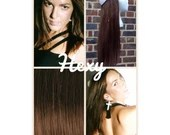 """18"""" long HALO FLIP in HEXY Medium red/auburn brown #5 human remy secret invisible miracle wire hair extensions damage free crown aura circle"""