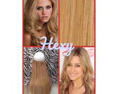 """20"""" long HALO HEXY FLIP in Medium honey blonde #16 human remy secret invisible miracle wire hair extensions bespoke no clips crown couture"""