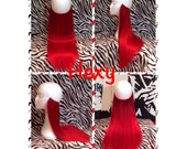 """22"""" long HALO FLIP in HEXY Bright red human remy hidden invisible miracle wire hair extensions band damage free custom made drawstring angel"""
