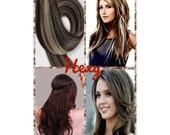 """18"""" HALO couture flip in HEXY Dark brown/bleach blonde #2/613 human remy secret invisible miracle wire hair extensions hidden crown headband"""